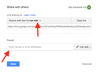 Sharing digital activities in Google