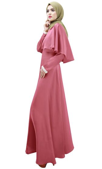 contoh jubah warna pink yang modern