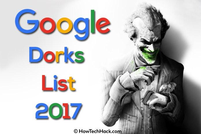 Latest and Fresh Google Dork List September 2018 - Hacking Tricks