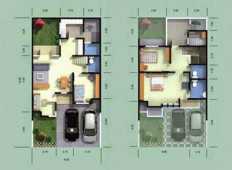 Berikut Contoh Gambar Desain Rumah Ukuran 10 x 15: & Inspirasi 7 Desain Rumah Ukuran 10 x 15 Yang Modern