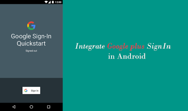Sign in with Google plus in Android studio