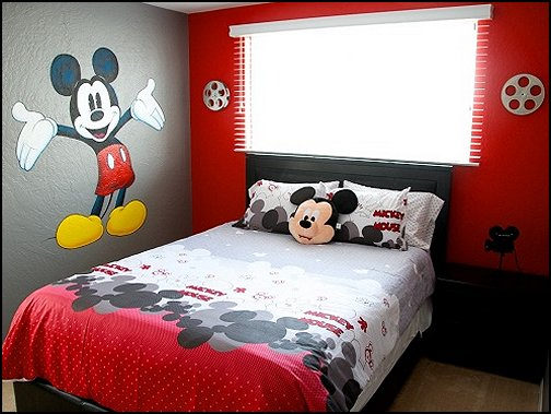Mickey Mouse bedroom ideas - Minnie Mouse bedroom decorating - Mickey Mouse bedding - Minnie Mouse Bedding - Mickey Mouse wall decals - Mickey Mouse Comforters - Disney bedding - Disney home decor - Mickey & Friends