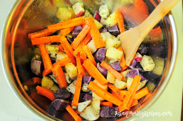 Roasted Carrots and Potatoes