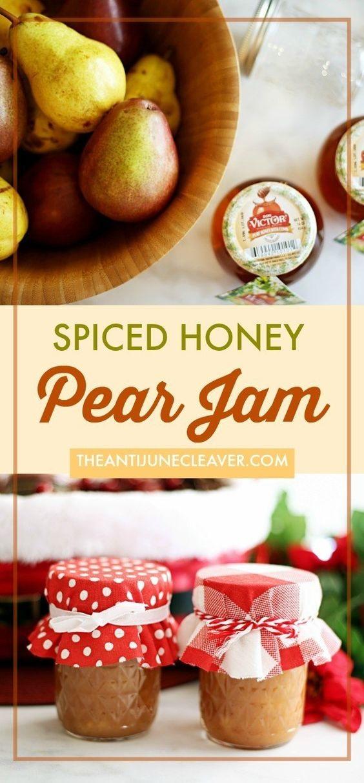 Spiced Honey Pear Jam