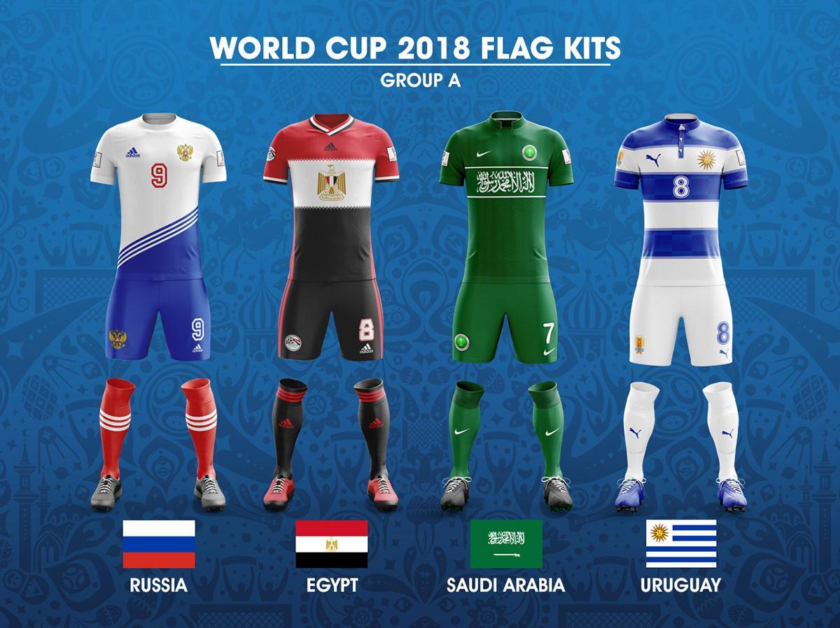614f8f5e5d5bc Designer cria camisas para as seleções da Copa do Mundo inspirado nas  bandeiras nacionais