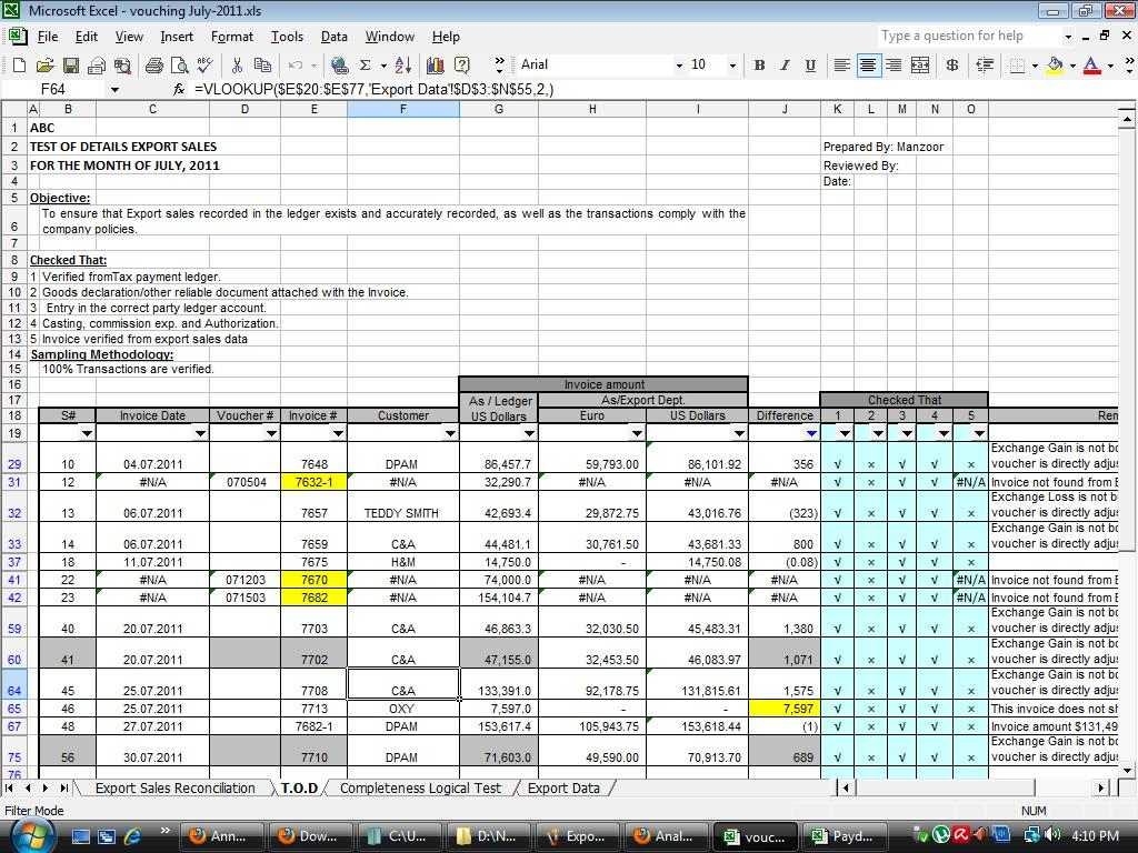 Download free internal audit working papers audit for Internal audit procedure template