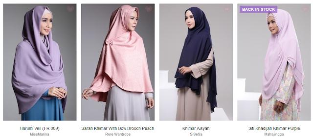 Jilbab Khimar di Hijup.com