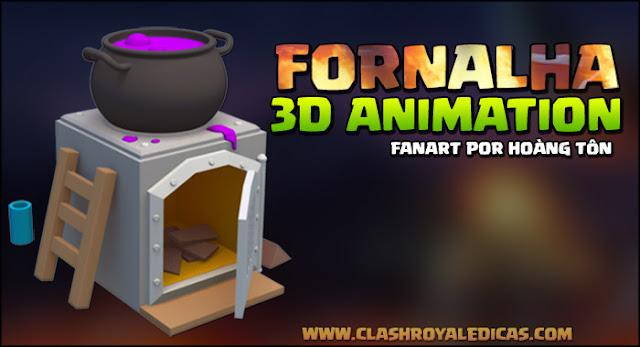 Animation Clash Royale furnace