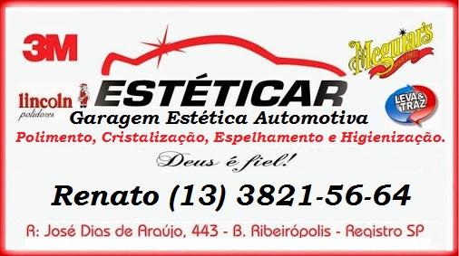 ESTÉTICAR GARAGEM DE ESTÉTICA AUTOMOTIVA EM REGISTRO-SP