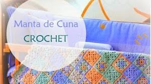 Patrones de Manta Crochet para Cuna - Paso a Paso con Video
