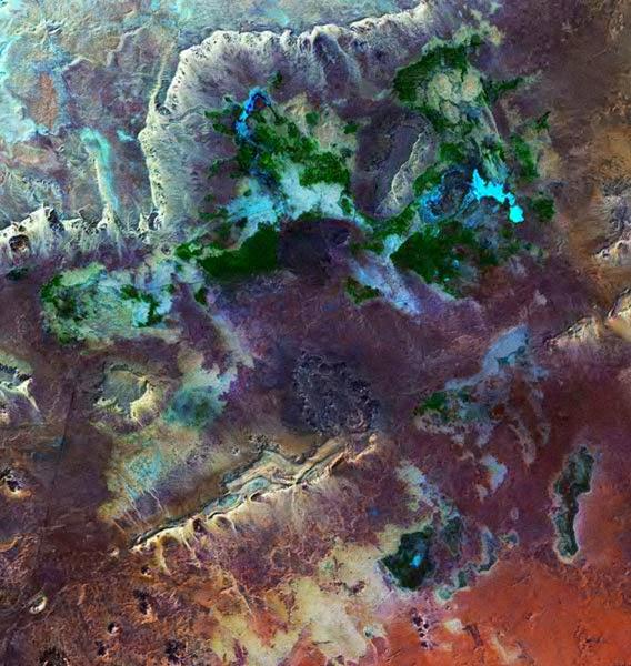 Foto Satélite NASA LANDSAT Oasis de Bahariyya