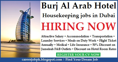 Burj Al Arab Hotel Housekeeping jobs in Dubai