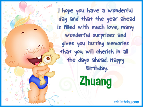 Zhuang Happy Birthday
