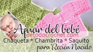 Tejer para el Bebé Recién Nacido / Chambrita / Saco / Jersey / Tutoriales