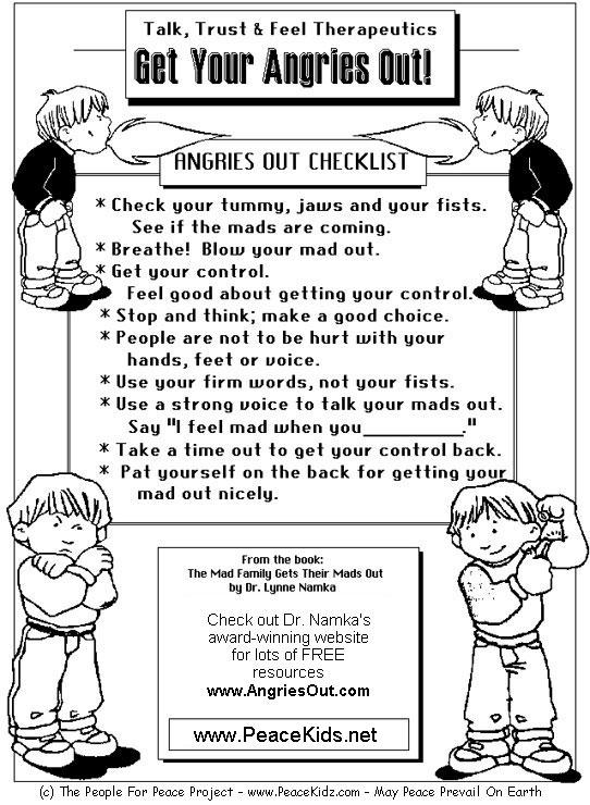 Anger Management Worksheets For Teens Free Worksheets ...