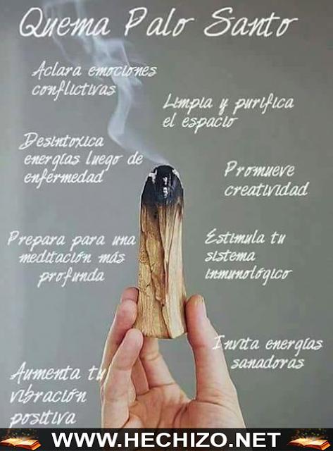 Palo Santo limpia y purifica
