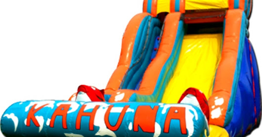 AMAZING KAHUNA 18FT HIGH, 30FT LONG SLIDE (WITH LANDING POOL)