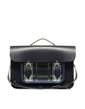 "ASOS Exclusive 15"" Batchel with Tartan Pocket GBP 130  Cambridge Satchel"