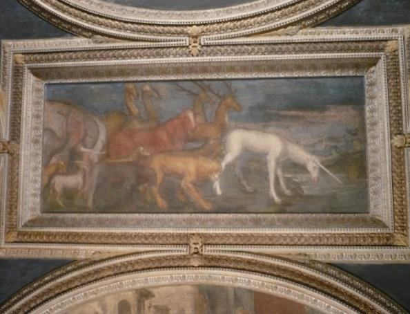 Affresco a Palazzo Giardino