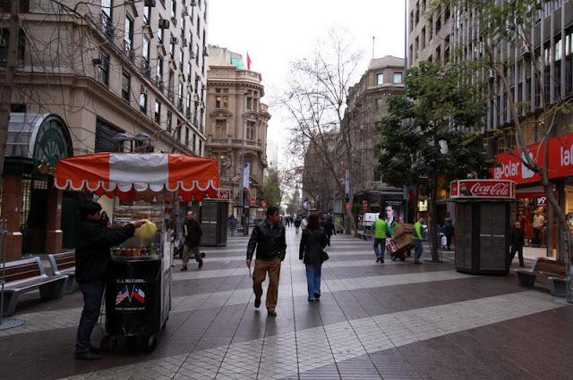 Compras em Santiago no mês de abril