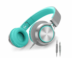 AILIHEN C8 Headphones Microphone Volume Control Folding Lightweight Headset