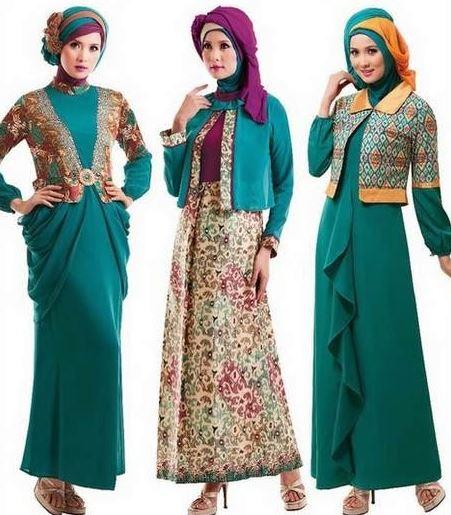 20 Model Baju Batik Kombinasi Brokat Terbaru 2017