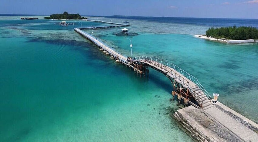 jembatan cinta, pulau tidung besar dan kecil