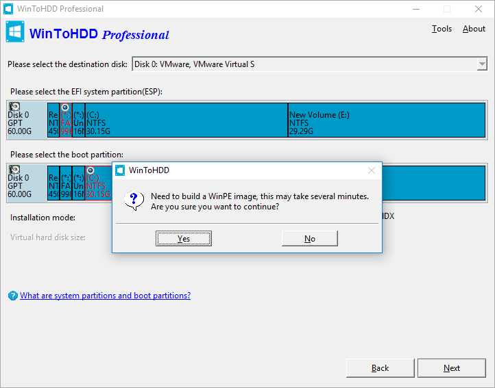 Bước cần thiết để WinToHDD có thể làm việc