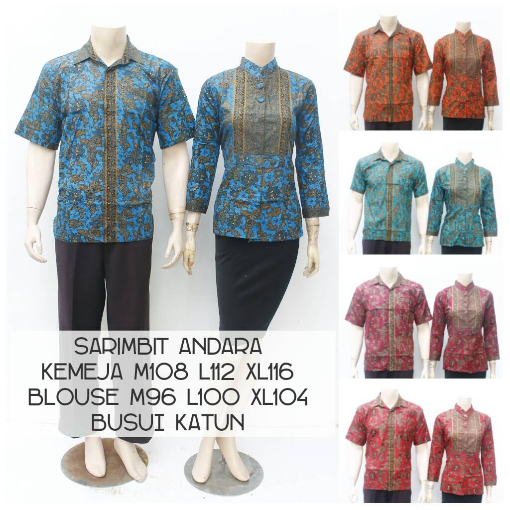 Jual Batik Pekalongan Kemeja Blouse Sarimbit Dress Batik Couple 2477f278ad