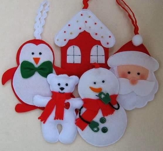 DIY - Decoração de Natal Com Feltro Super Fácil de Fazer Com Moldes 20