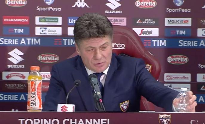 Torino Lazio: la conferenza stampa di Mazzarri dalla sala stampa del Sisport.