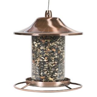 Copper made bird feeder