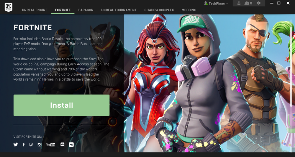 Download Fortnite Free, Install Fortnite Windows 10 Laptop Desktop