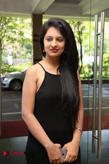 Actress Nikita Bisht Pictures in Black Long Dress at Akritti Elite Exhibition Launch  0010.jpg