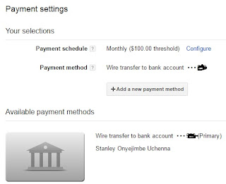 adsense payment set up