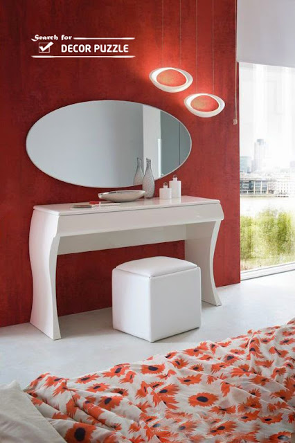 contemporary dressing table, modern white dressing tables