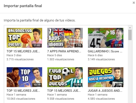Pantallas finales de Youtube 4