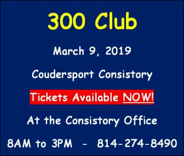Coudersport Consistory 300 Club