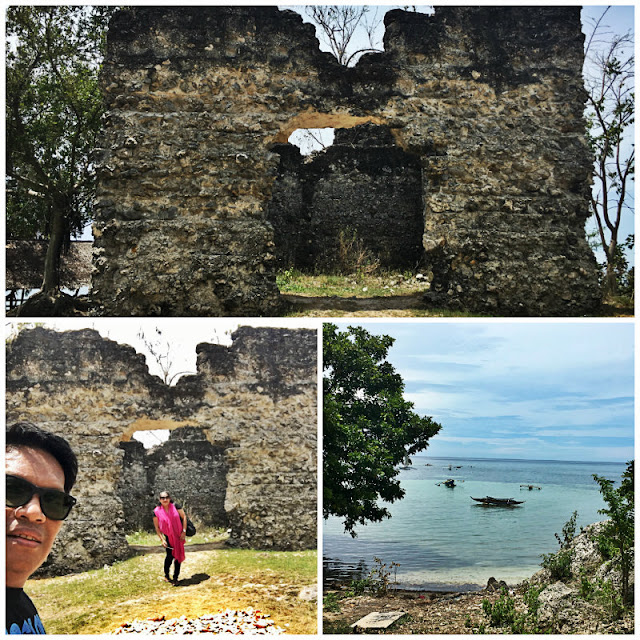 Obong Ruins and Obong Beach near Obong Spring in Dalaguete Cebu