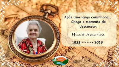 Hilda Amorim nos deixa aos 91 anos de idade
