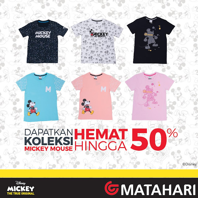 #Matahari - #Promo Hemat Hingga 50% Untuk Koleksi Mickey Mouse (s.d 31 Maret 2019)