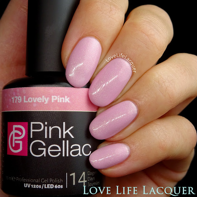 Pink Gellac VIP collection swatches Lovely Pink