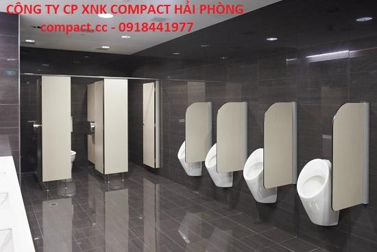 Vách ngăn vệ sinh cao cấp Compact HPL giá rẻ tại Hải Phòng
