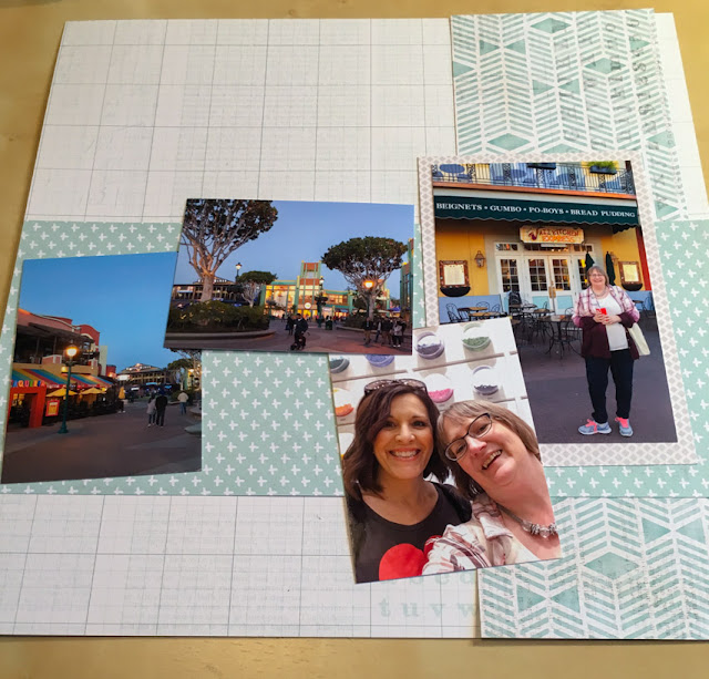 scrapbook layout under construction