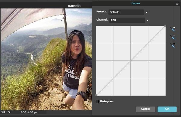 efek foto dengan curves