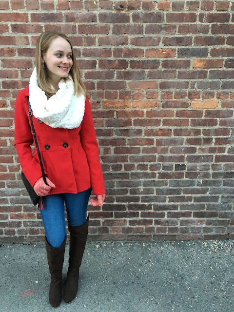 loft scarf gloves red coat boots 2016