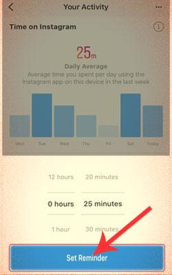 Mengatur Munculnya Notifikasi Pengingat Waktu Di Instagram