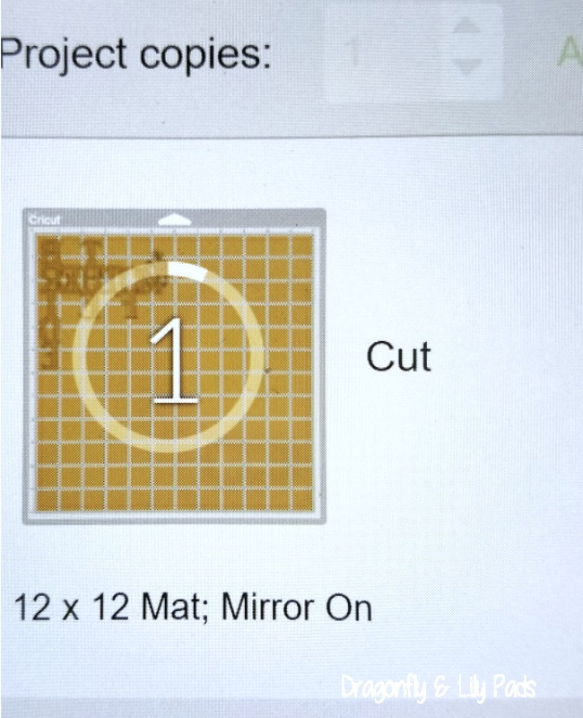 Cricut Mirror Image Button is important when using Heat Transfer Vinyl.