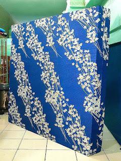 Kasur inoac motif bunga randu biru