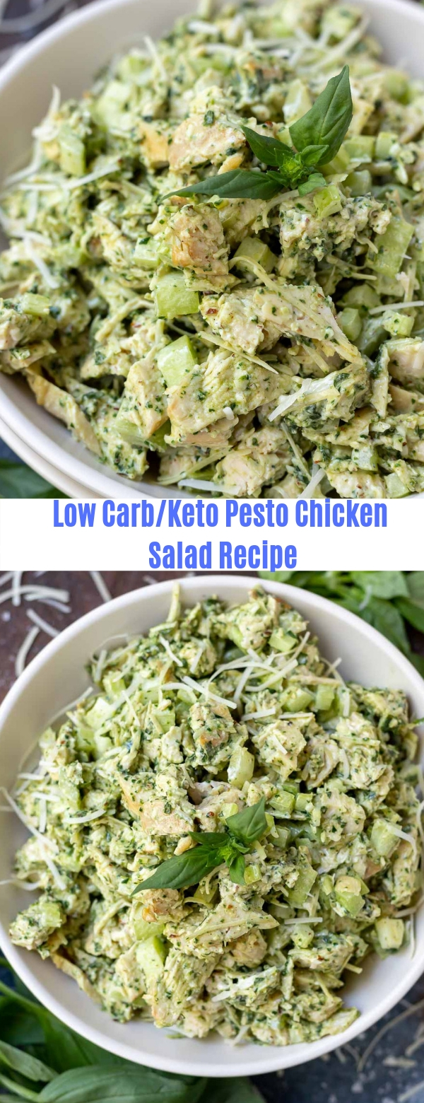 Keto/Low carb Pesto Chicken Salad Recipe